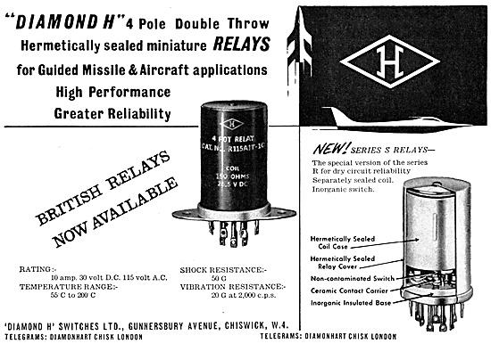 Diamond H Relays- Aircraft Electrical Equipment.