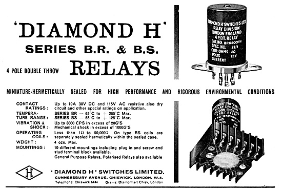 Diamond H Relays - Aircraft Electrical Equipment.