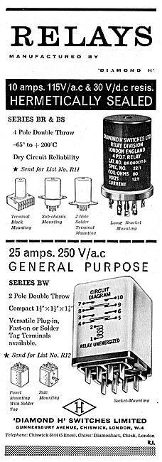 Diamond H - Aircraft Electrical Equipment. Series BR & BS