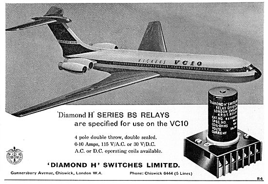 'Diamond H' Series BS Relays For The Vickers VC10