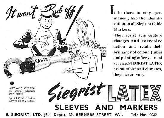 E.Siegrist Latex Sleeves & Cable Markers