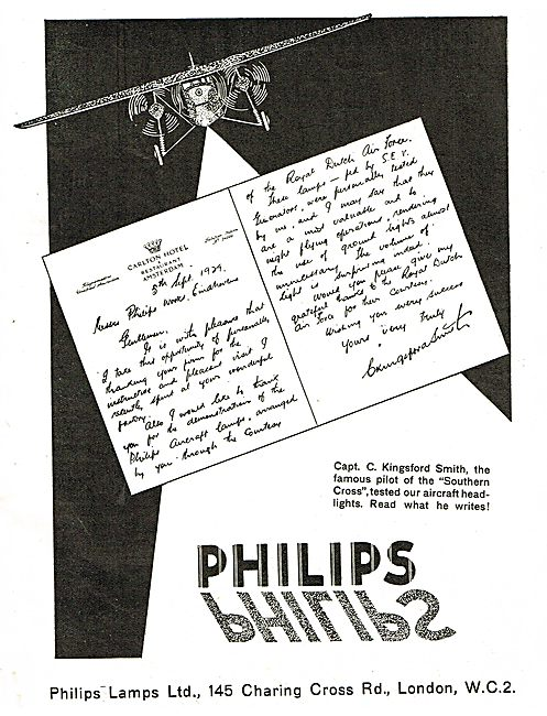 Kingston Smith Used Philips Aircraft Headlight On Southern Cross